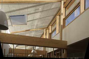 Bushbury Passivhaus School, Winter sun