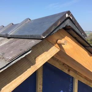 vernacular passivhaus roof detail