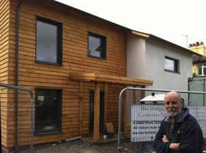 Ledbury timber frame Passivhaus Mike Whitfield construction