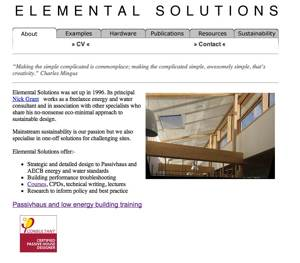 Elemental Solutions old website