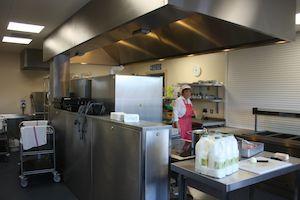 kitchen in passivhaus school