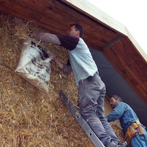 Straw bale green building