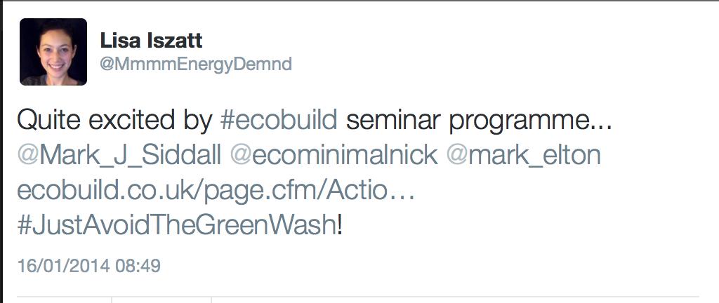 ecobuild seminar twitter mention